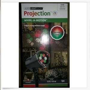 New Gemmy LED Lightshow Projection Whirl-A-Motion